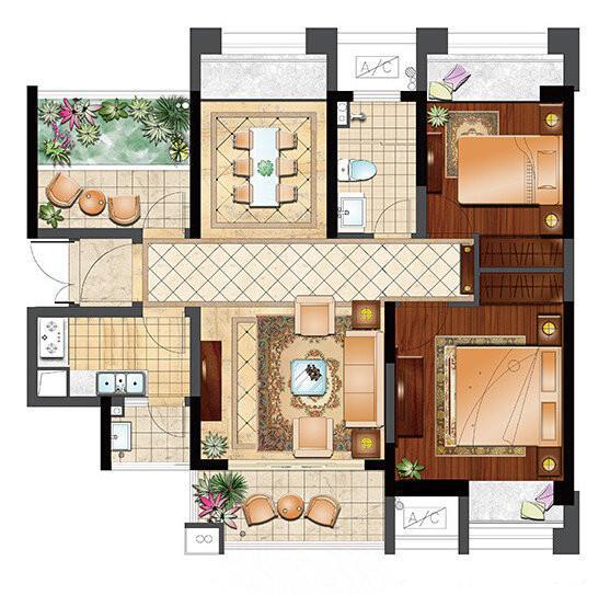 吴中区 郭巷 保利居上 出售 89.0平/米 3室2厅1卫 简装